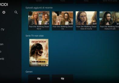 Libreria kodi multimediale, inserirla nella home screen