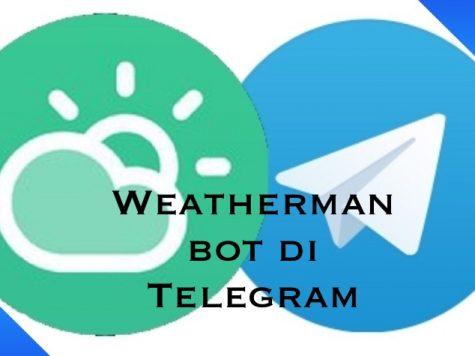 Weatherman bot di Telegram