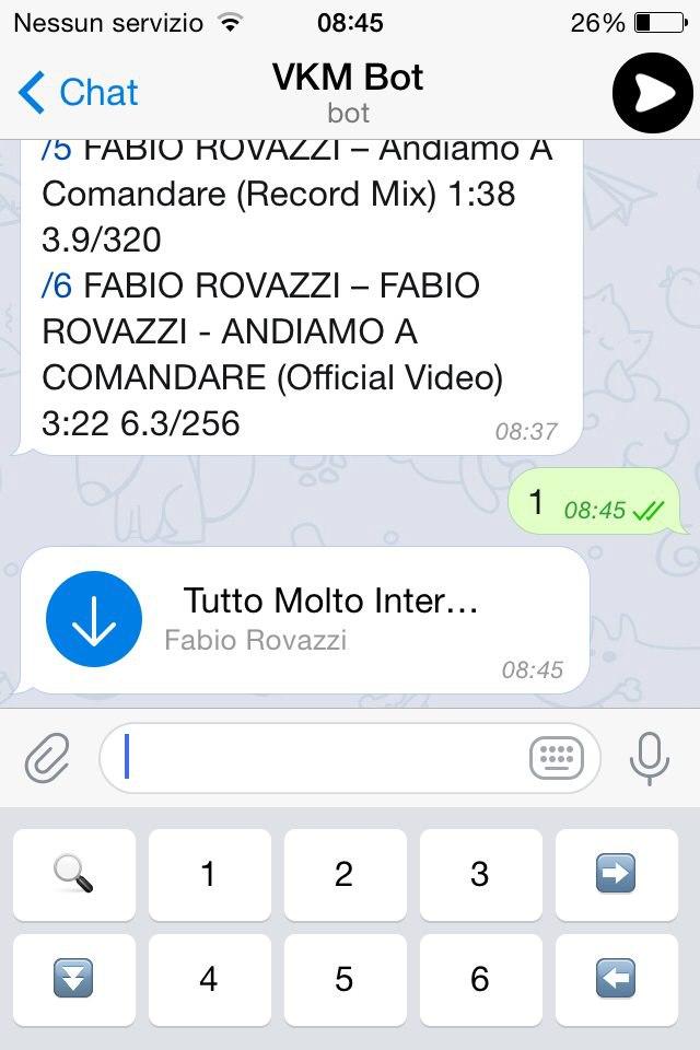 Scaricare musica da Telegram