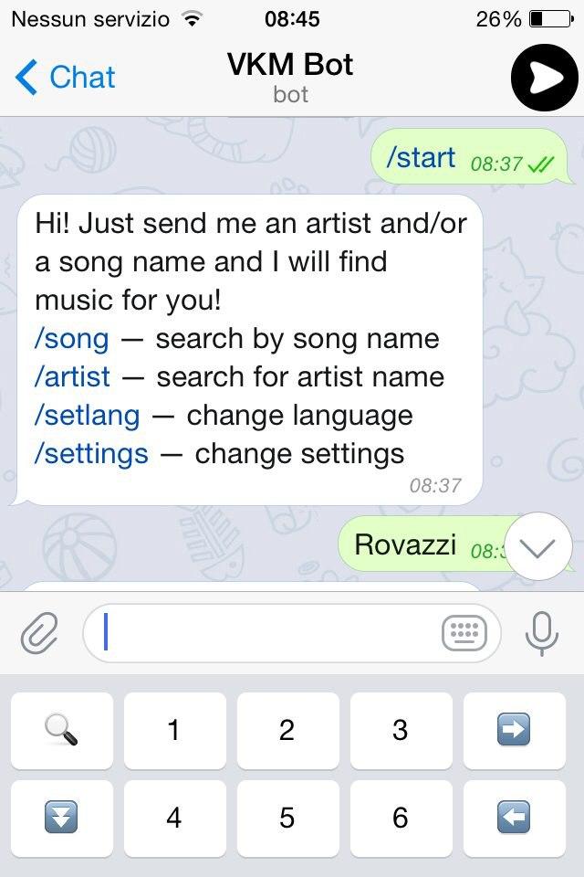 SCARICA MUSICA TELEGRAM IOS