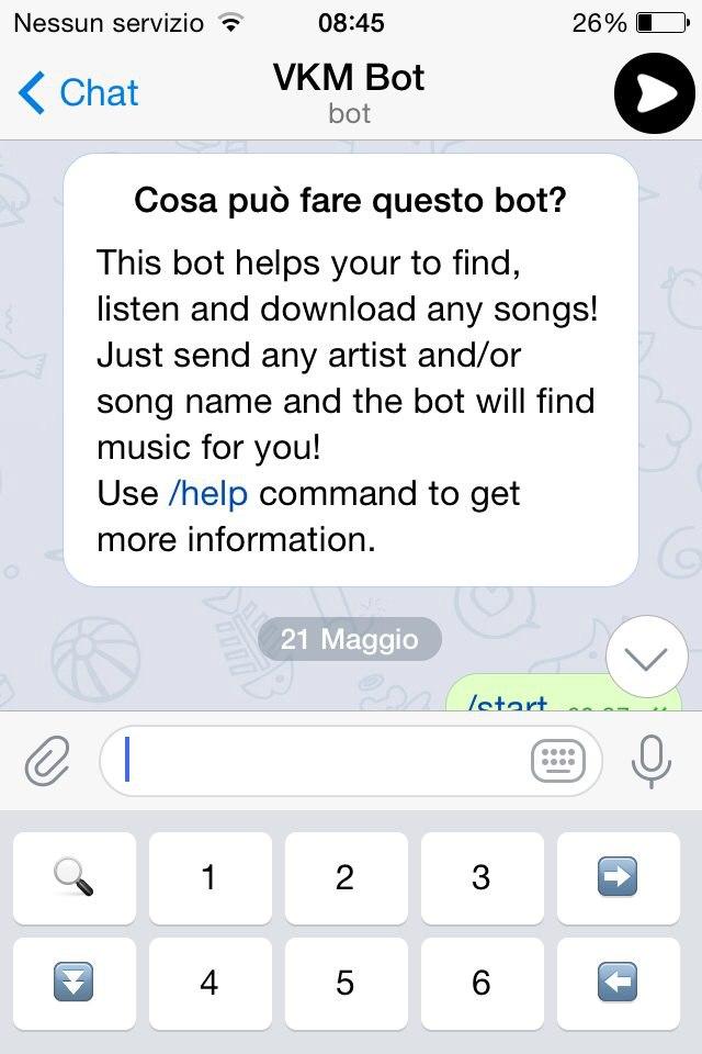 musica telegram ios