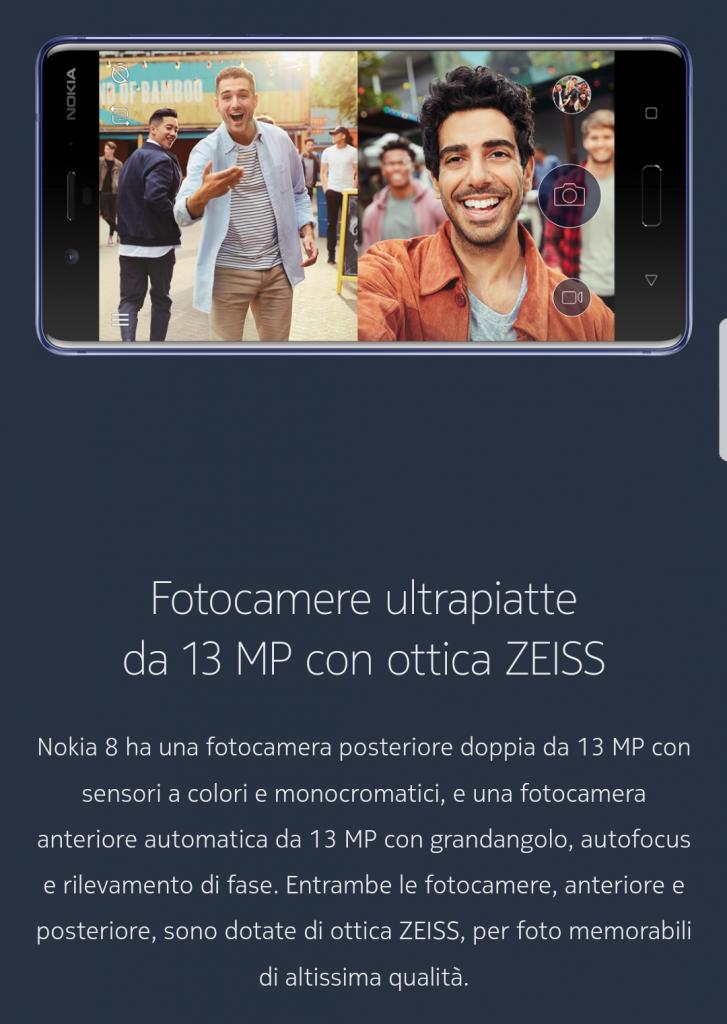 Prima apparizione del Nokia 8