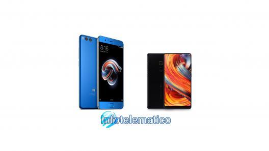 Xiaomi Mi Mix 2 e Mi Note 3
