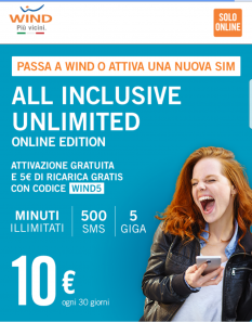 Wind regala 5 euro