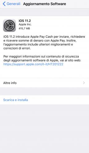 Nuovo aggiornamento 11.2