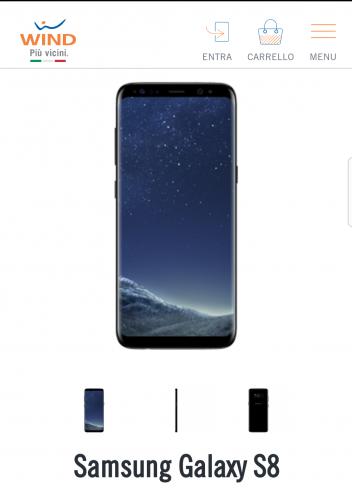 Con Wind puoi avere un Samsung s8 a ratec