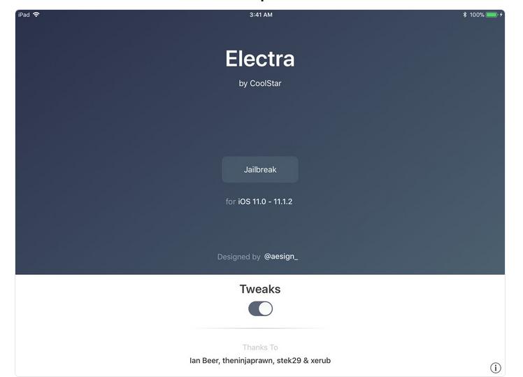 Jailbreak electra iOS 11