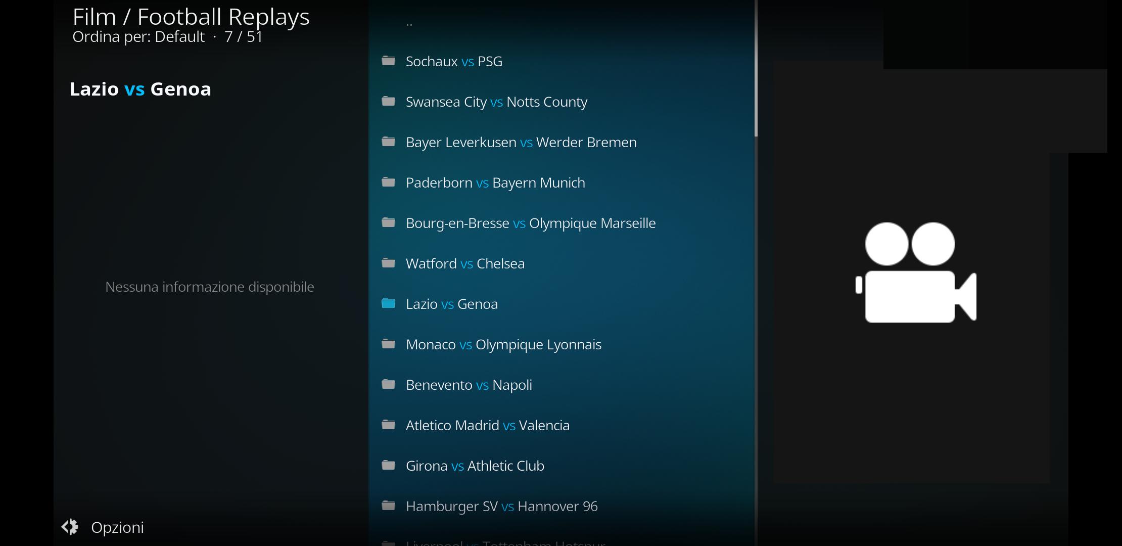 Football replay add-on di kodi - Partite integre e highligh