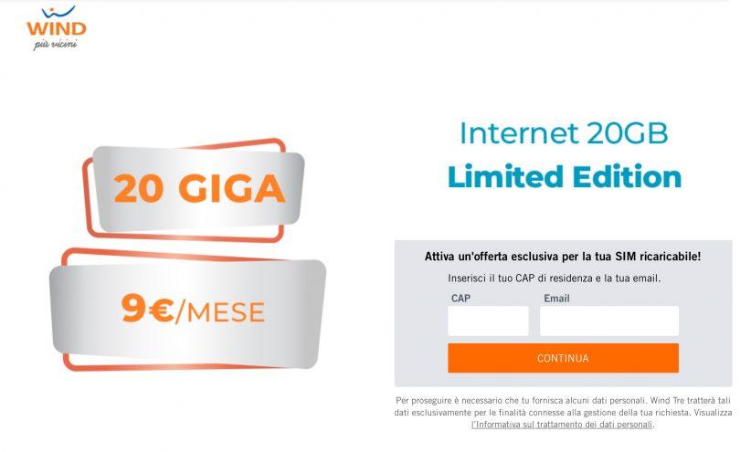 Wind internet 20GB L.E