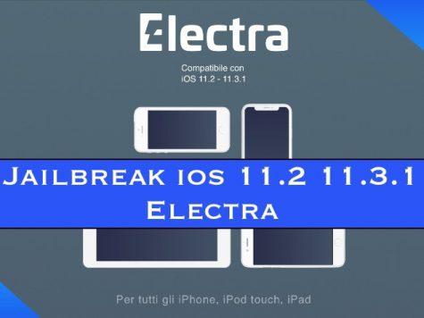 Jailbreak ios 11.2 11.3.1 Electra