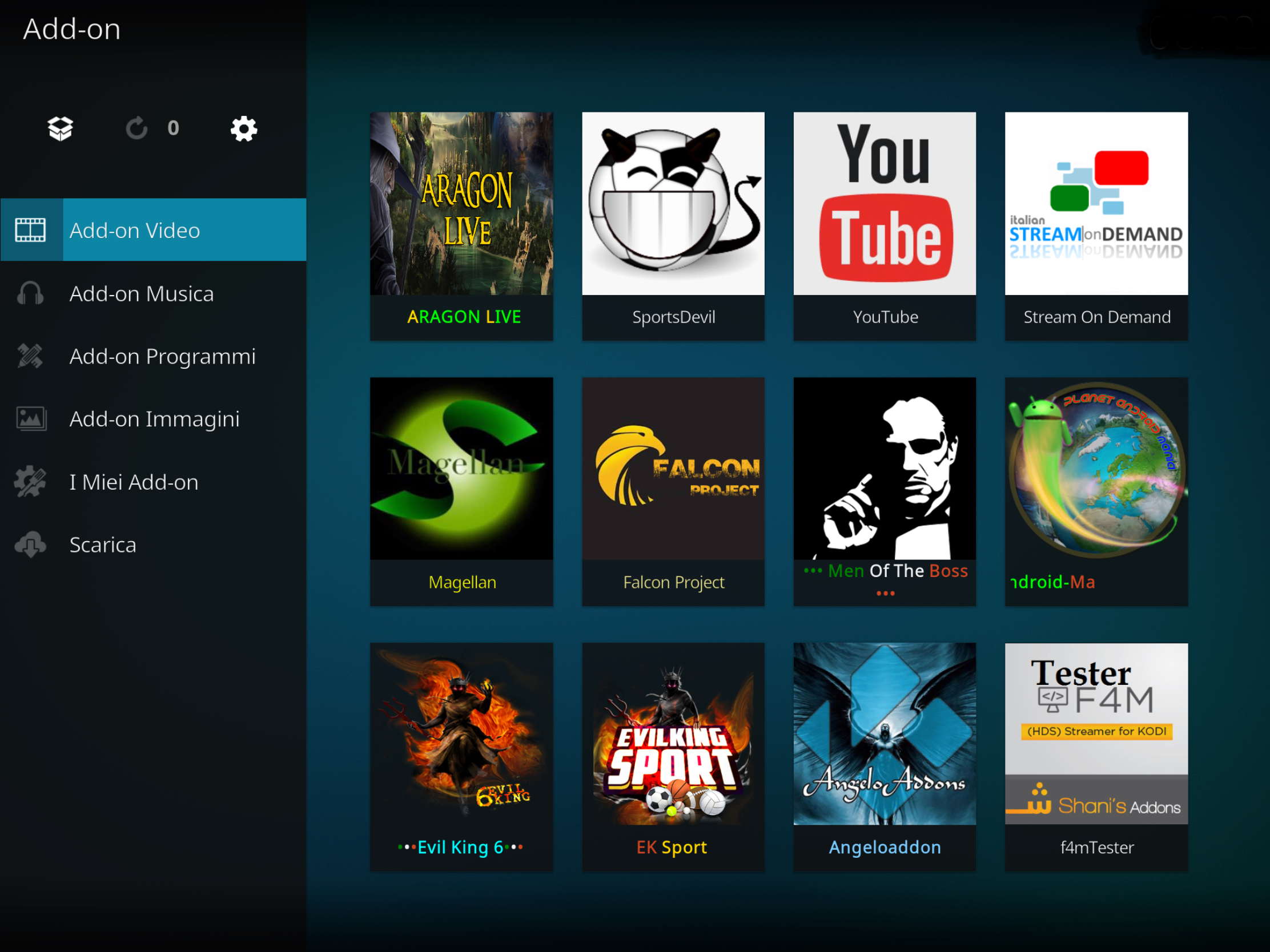 Aragon live add-on kodi