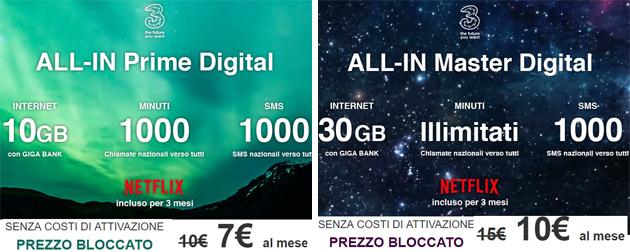 All-In Prime Digital e All-In Master Digital