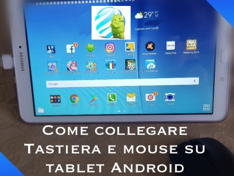 Tastiera e mouse su tablet Android