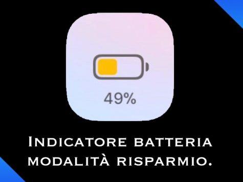 Indicatore batteria durante la modalità risparmio
