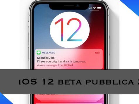 iOS 12 beta pubblica 2