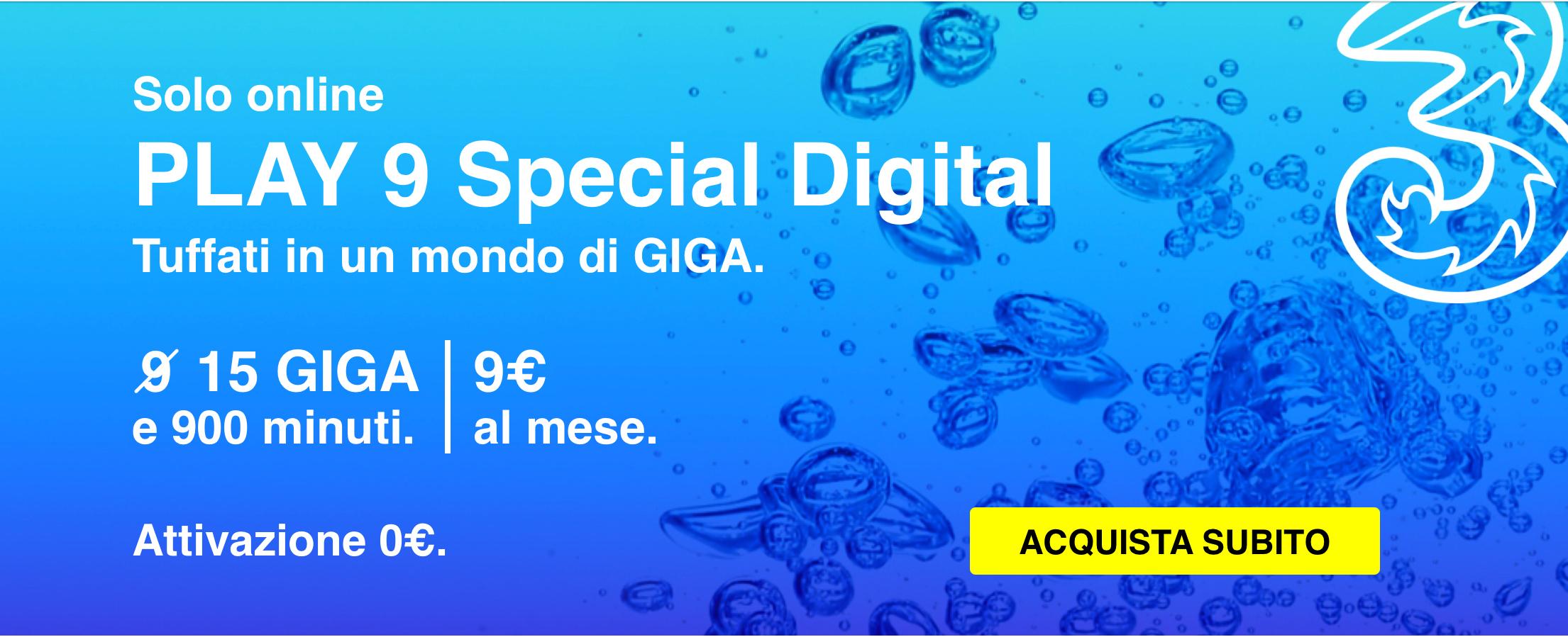 Play 9 digital di tre