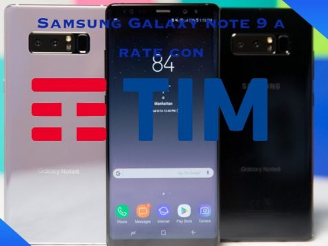Note 9 a rate con Tim