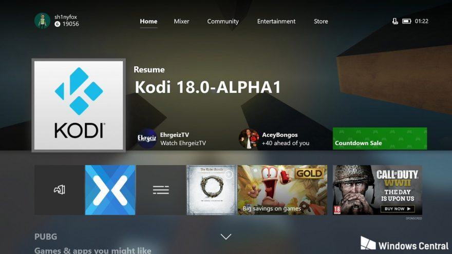 Kodi per Xbox one