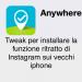 abilitare la funzione ritocco di Instagram su gli iPhone Vecchi