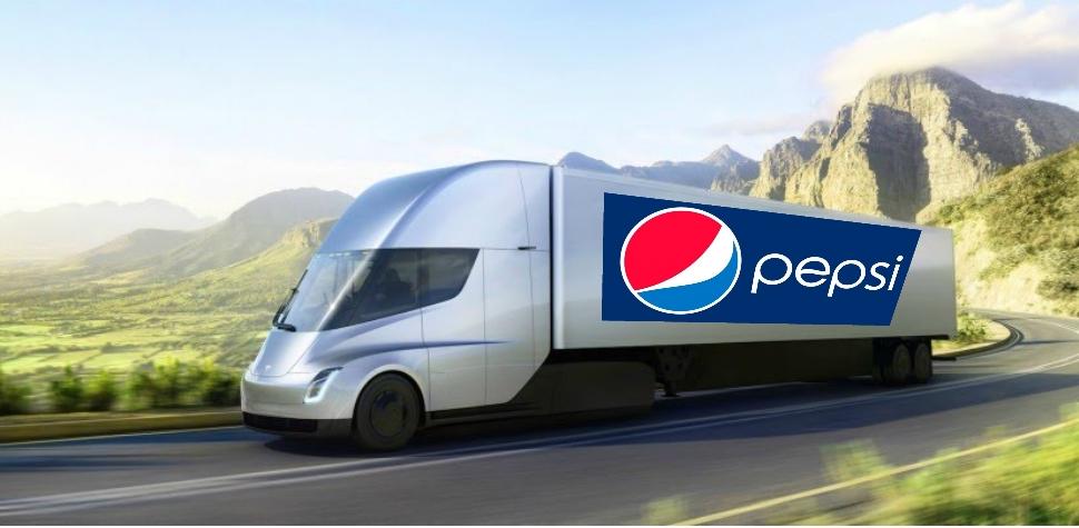 Pepsi ordina 100 tesla Semi