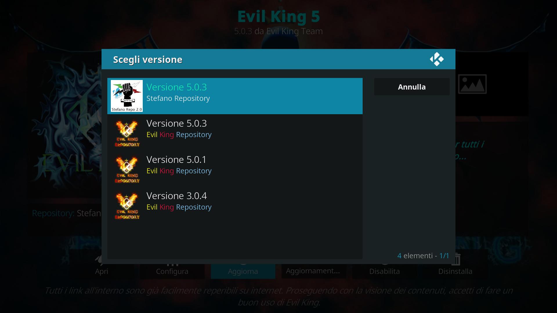 Nuova repository per Evil king.