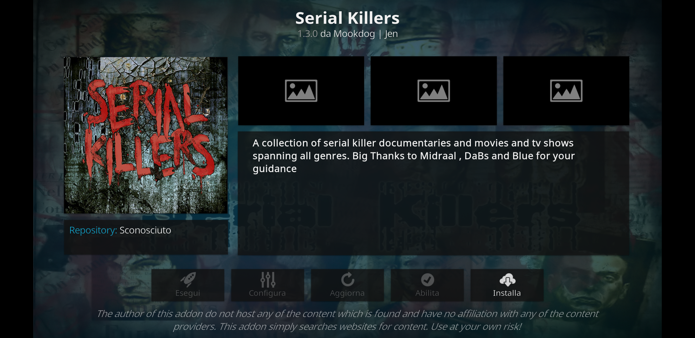 Serial Killer add-on kodi